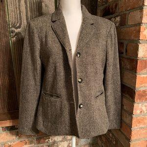Petite Career Wear Gray Blazer Wool Blend 14P